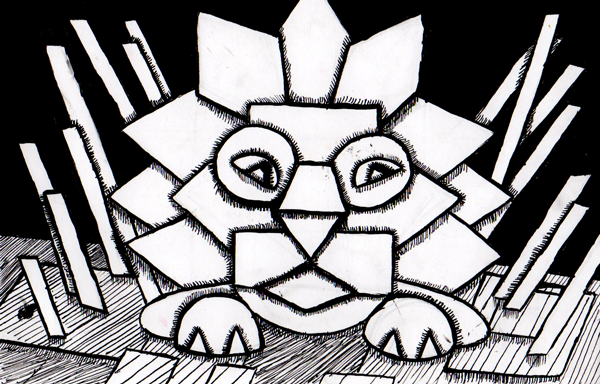 Enya Deng - Overlap Lion. Created at Oam Studios Art Academy