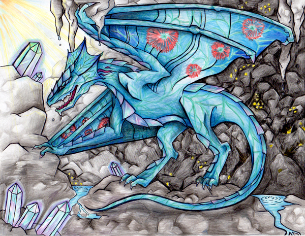 Midnight Dragon by Enya Zheng. Created while taking art classes at an art academy named Oam Studios in Pleasanton Ca.