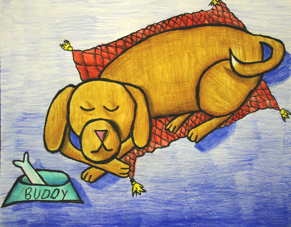 Renee Zuhar - Lazy Buddy drawn and colored at Oam Studios