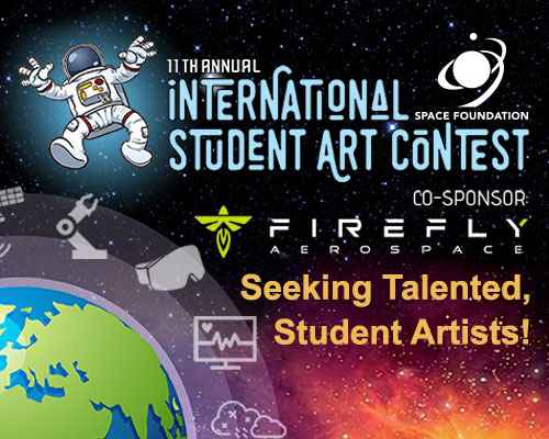 Image advertising the International Space Foundation Student Art Competition.